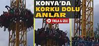 Konya'da Lunaparkta Korkutan Anlar-VİDEO