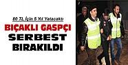 Konya'da marketçiyi gasp eden şahıs 5 yıl ceza aldı serbest bırakıldı