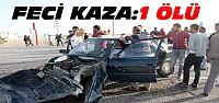 Konya'da minibüsle otomobil çarpıştı:1 ölü 5 yaralı