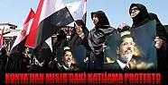 Konya'da Mısır Katliamı Protesto Edildi
