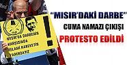 Konya'da Mısır'daki Darbe Cuma Namazı Çıkışı Protesto Edildi