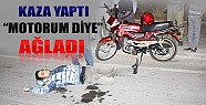 Konya'da Motosikletli Kaza Yaptı, Motorum Diye Ağladı
