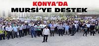 Konya'da Mursi'nin İdam Kararına Protesto