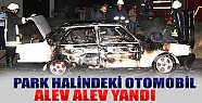 Konya'da Park Halindeki Otomobil Alev Alev Yandı