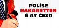 Konya'da Polise Hakaretten 6 Ay Hapis Cezası
