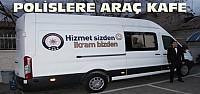Konya'da Polislere Seyyar Kafe Aracı Hizmete Girdi