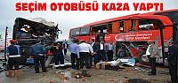 Konya'da Seçim Otobüsü Kaza Yaptı