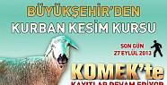 Konya'da Sertifikalı Kurban Kesim Kursu