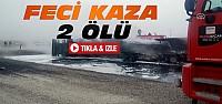 Konya'da TIR Mazot Yüklü Tankerle Çarpıştı-2 Ölü