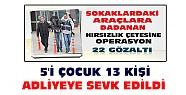Konya'da Yakalanan Hırsızlık Çetesinden 5'i Çocuk 13 Kişi Adliyeye Sevk Edildi