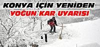 Konya'da Yeniden Yoğun Kar Yağışı Uyarısı