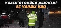 Konya'da Yolcu Otobüsü Devrildi-25 Yaralı