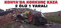 Konya'daki Feci Kazada 2 Kişi Öldü 1...