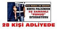 Konya'daki fuhuş operasyonunda 28 kişi adliyede