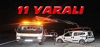 Konya'daki kazada 11 kişi birden yaralandı