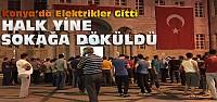 Konya'da elektrikler yine gitti-Sokaklar...