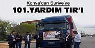 Konya'dan Suriye'ye 101. Yardım TIR'ı Gitti
