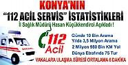 Konya'nın 112 Acil Servis İstatistikleri