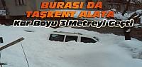 Konya'nın Bu İlçesinde de Kar 3 Metreyi...