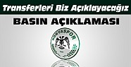 Konyaspordan Açıklama:Transferleri Biz Açıklayacağız