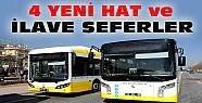 Konya'ya 4 yeni otobüs hattı ve ilave seferler koyuldu