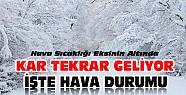 Konya'ya Kar Tekrar Geliyor- Hava Durumu İçin Tıklayınız