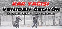 Konya'ya Kar Yeniden Geliyor-İşte Son Hava Durumu