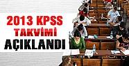 KPSS 2013 Sınav ve Yerleştirme Takvimi Açıklandı
