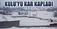 Kulu'yu Kar Kapladı