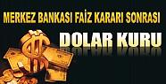 Merkez Bankası Faiz Kararı Sonrası Dolar Kuru