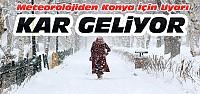 Meteorolojiden Konya İçin Kar Yağışı Uyarısı