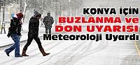 Meteorolojiden Konya'ya Buzlanma ve Don Uyarısı