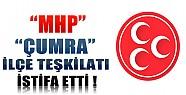 MHP Çumra İlçe Teşkilatı İstifa Etti