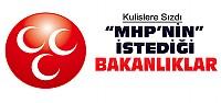 MHP Hangi Bakanlıkları İstedi?