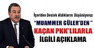 Muammer Güler'den Kaçan PKK'lılar ile İlgili Açıklama