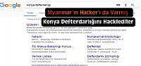 Myanmarlı Hackerlar Konya Defterdarlığına...