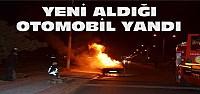 Otomobil hareket halindeyken yandı