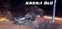 Otomobil Takla Attı:1 Ölü