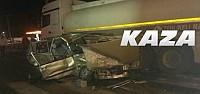 Otomobil Tankerle Çarpıştı.1 Ağır Yaralı