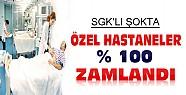 Özel Hastaneler %100 Zamlandı-SGK'lı Şokta