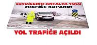 Seydişehir Antalya Yolu Trafiğe Açıldı
