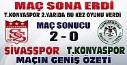 Sivasspor T.Konyaspor Maçı Sona Erdi-İşte Maçın Geniş Özeti