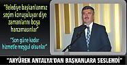 Tahir Akyürek Antalya'da