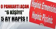Taksim'de O Pankartı Açan 6 Kişiye 5 Ay Hapis Kararı