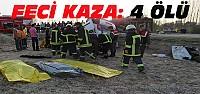 Ticari araçla cenaze nakil aracı çarpıştı:4 ölü