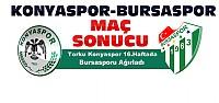 Torku Konyaspor-Bursaspor Maç Sonucu
