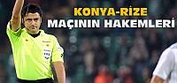 Torku Konyaspor Çaykur Rize Maçının Hakemleri