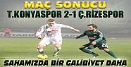 Torku Konyaspor Çaykur Rizespor Maç Sonucu