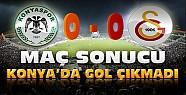 Torku Konyaspor-Galatasaray Maç Sonucu