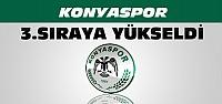 Torku Konyaspor Ligde 3. Sıraya Yükseldi